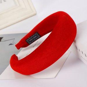Red Velvet Thick Foam Headband